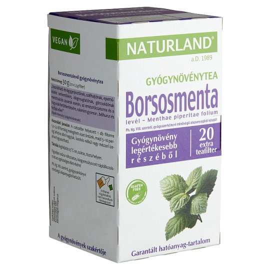 Naturland Herbal Peppermint Leaf Herbal Tea 20 Tea Bags 30 g
