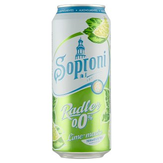Soproni Radler Lime-Mint Flavoured Non-Alcoholic Beer Drink 0,5 l