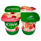 Danone Activia Low-Fat Yoghurt with Red Fruits, Cereals and Live Cultures 4 x 125 g