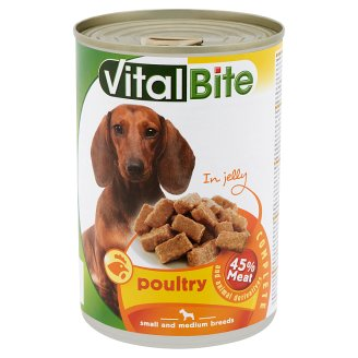 VitalBite Complete Pet Food for Adult Dogs with Poultry in Jelly 415 g