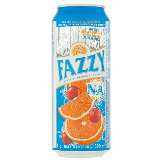 Fazzy Mix of Alcohol Free Beer and Fruity Soft Drink with Grapefruit & Cranberry Juice 0,5% 500 ml