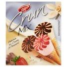 Eispro Crun Mix vaníliás, epres és csokoládés jégkrém ostyatölcsérben 6 x 115 ml