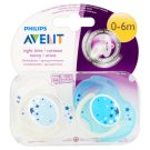 Philips Avent Night Time Orthodontic Soothers 0-6 Months 2 pcs