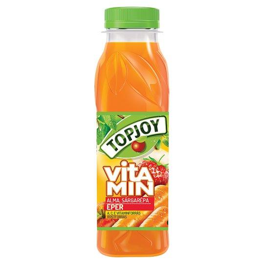 Topjoy Vitamin rostos alma-sárgarépa-eper ital hozzáadott C- és E-vitaminnal 300 ml
