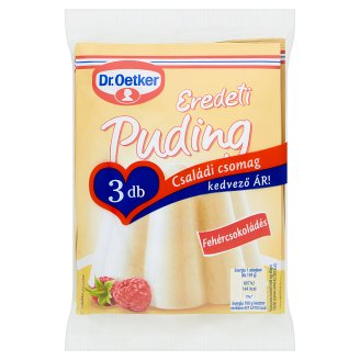 Dr. Oetker Eredeti Puding White Chocolate Flavoured Pudding Powder 3 x 46 g
