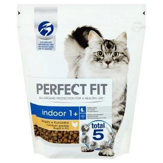 Perfect Fit Indoor 1+ csirkében gazdag teljes értékű állateledel felnőtt macskák számára 750 g