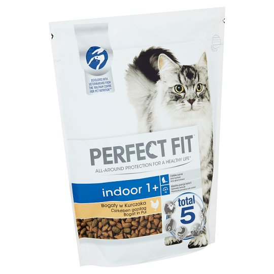 Perfect Fit Indoor 1+ Complete Pet Food for Adult Cats Rich in Chicken 750 g