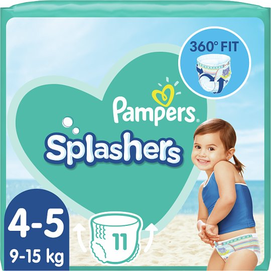 Pampers Splashers Size 4-5, 11 Disposable Swim Pants