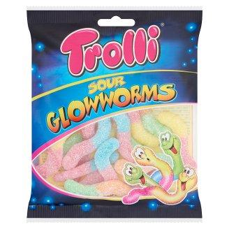Trolli Sour Glowworms Fruit Flavoured Gums 100 g