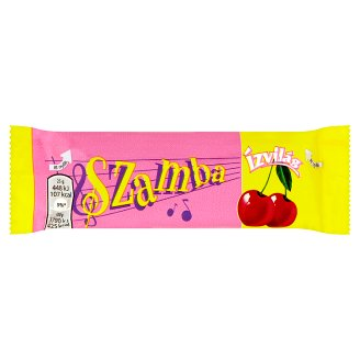 Ízvilág Szamba Dark Chocolate Covered Bar with Rum and Sour Cherry-Marzipan Filling 25 g