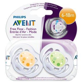 Philips Avent levegőlyukas játszócumik 6-18 hónapos korig 2 db