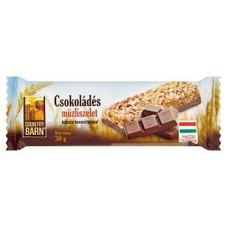 Country Barn csokoládés müzliszelet kakaós bevonótalppal 30 g