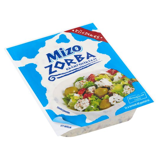 Mizo Zorba zsíros, lágy, fűszeres krémfehérsajt 250 g
