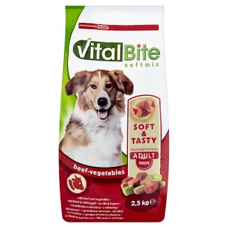 VitalBite Complete Dry Pet Food for Adult Dogs with Beef and Vegetables 2,5 kg