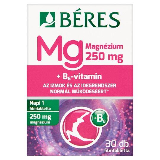 Béres Magnézium 250 mg filmtabletta 30 db 37,5 g