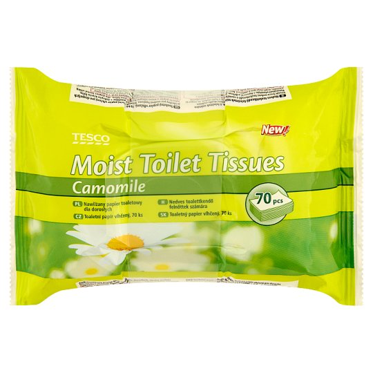 Tesco Moist Toilet Tissues with Camomile 2 x 70 pcs