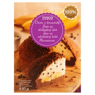 Tesco Baking Mix for Cocoa Flavoured Sponge with Chocolate Chip and Banana Flavoured Filling 410 g