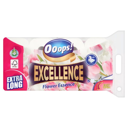 Ooops! Excellence Flower Essence Toilet Paper 3 Ply 8 Rolls