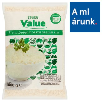 "Tesco Value ""B"" Quality Long Grain Rice 1000 g"