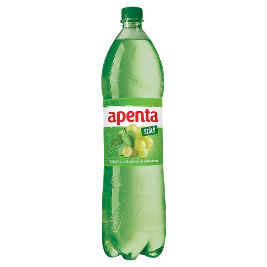 Apenta Grapes Flavoured Carbonated Soft Drink with Natural Mineral Water 1,5 l