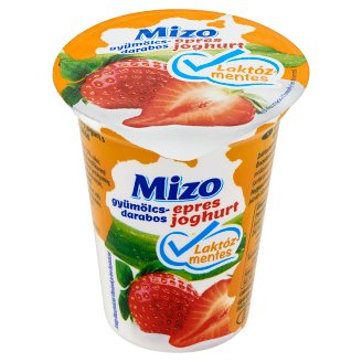 Mizo Lactose-Free Strawberry Yoghurt with Fruit Pieces 150 g