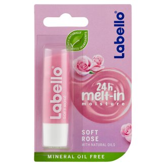 Labello Soft Rosé Caring Lip Balm 4,8 g