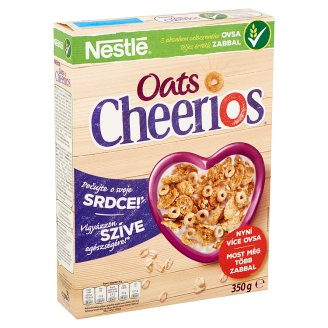 Nestlé Cheerios Oats Crunchy Cereal Flakes with Oats, Vitamins and Minerals 350 g