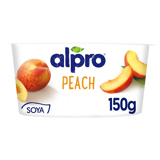 Alpro Vegetable Based Product with Peach and Yogurt Cultures 150 g