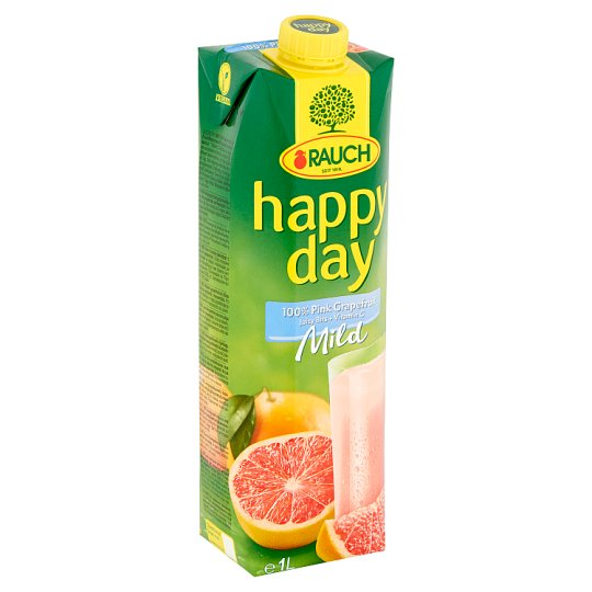 Rauch Happy Day Mild 100% Pink Grapefruit Juice with Pulp 1 l