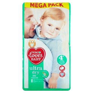 Tesco Loves Baby Ultra Dry 4+ Maxi+ Nappies 9-20 kg 50 pcs