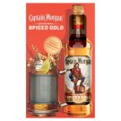 Captain Morgan Spiced Gold Spirit Drink with Spicy Caribbean Rum 35% 0,7 l + Glass