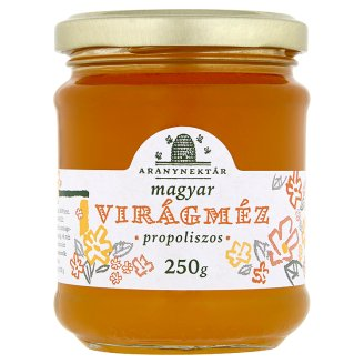 Aranynektár Hungarian Blossom Honey with Propolis 250 g