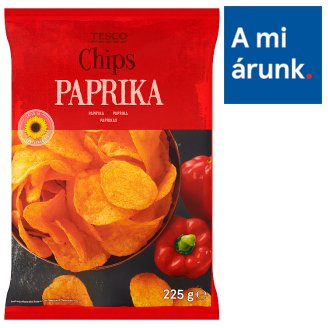 Tesco Paprika Chips 225 g
