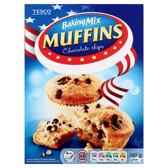 Tesco Baking Mix for Muffins with Chocolate Chips 260 g