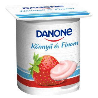 Danone Strawberry Flavoured Low-Fat Yoghurt with Live Cultures 125 g