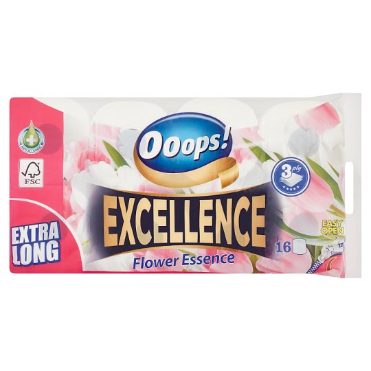 Ooops! Excellence Flower Essence Toilet Paper 3 Ply 16 Rolls