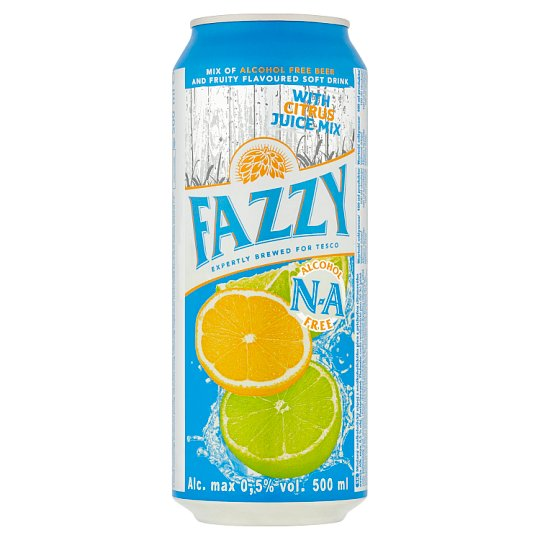 Fazzy Mix of Alcohol Free Beer and Fruity Flavoured Soft Drink with Citrus Juice Mix 0,5% 500 ml