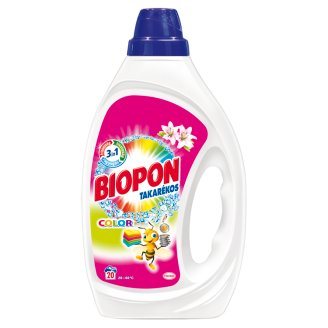 Biopon Takarékos Color Lily Liquid Detergent for Colourful Clothes 20 Washes 1 l