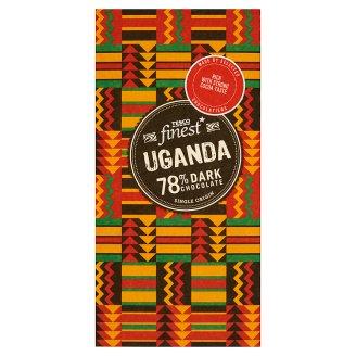 Tesco Finest Uganda 78% Dark Chocolate 100 g