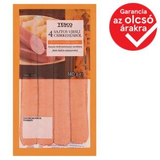 Tesco füst ízesítésű pulykavirsli sajttal 140 g