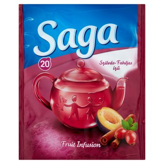 Saga Plum-Cinnamon Fruit Tea 20 Tea Bags