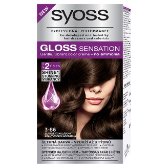Syoss Gloss Sensation 3-86 Gold Chocolate Brown Permanent Hair Colorant