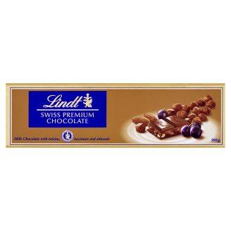 Lindt Swiss Milk Chocolate with Raisins, Hazelnuts and Almonds 300 g