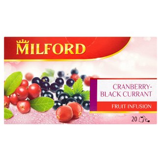 Milford Cranberry-Black Currant Flavoured Fruit Tea 20 Tea Bags 50 g