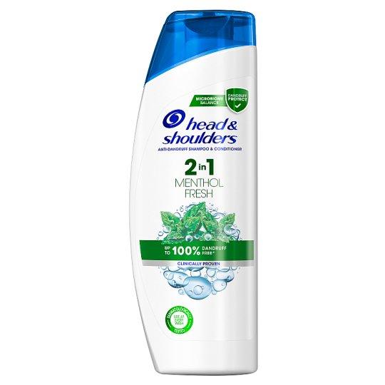 Head & Shoulders Menthol Fresh 2 Az 1-Ben Korpásodás Elleni Sampon, 360 ml