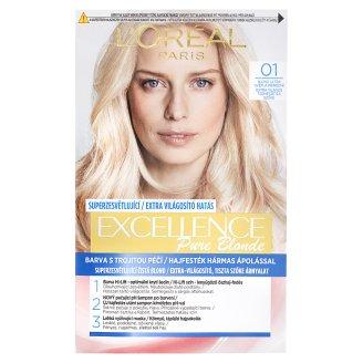 L'Oréal Paris Excellence Pure Blonde 01 Extra Világos Természetes Szőke tartós krémhajfesték