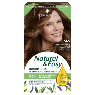 Schwarzkopf Natural & Easy 565 Almond Light Golden -Brown Permanent Hair Colorant