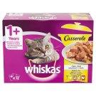 Whiskas 1+ Casserole Szárnyas Válogatás teljes értékű eledel felnőtt macskáknak aszpikban 12 x 85 g