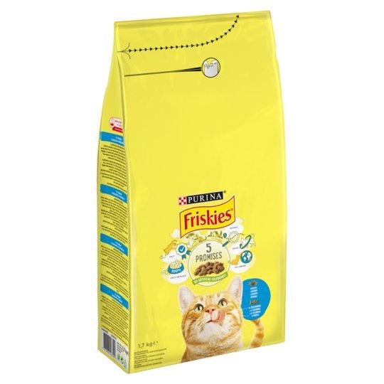 Friskies teljes értékű állateledel felnőtt macskák számára lazaccal és zöldségekkel 1,7 kg