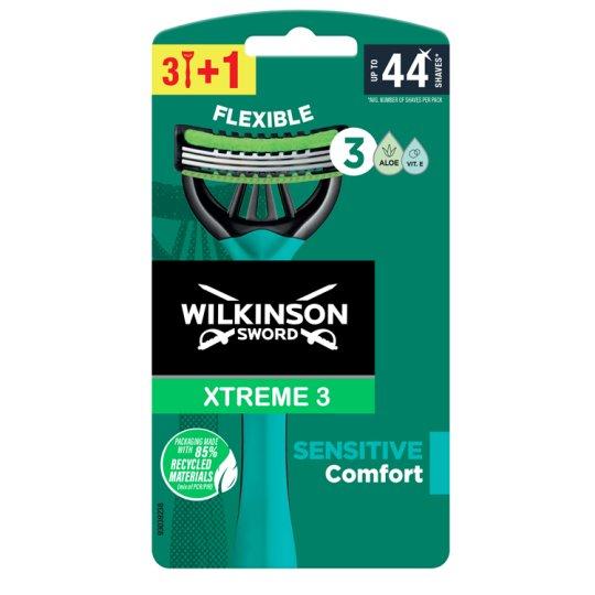 Wilkinson Sword Xtreme3 Sensitive 3 pengés eldobható borotva 4 db